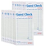 """Stock Your Home Guest Check Book (20 Books) 3.5"""" x 6.75"""" Server Notepads and Waitress Order Pads - 50 Checks Per Book for Total 1,000 Guest Checks"""