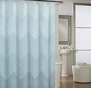 Amazon Com Cynthia Rowley Mosaic Dots Chevron Blue White Fabric Shower Curtain Mosaic Waves