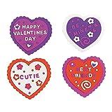 Design It Yourself Foam Valentine Craft Kit ~ 24 Hearts / 832 Foam Stickers ~ New