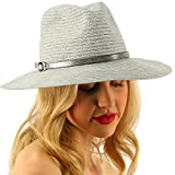 Summer Metallic Light Airy Crushable Fedora Panama Derby Beach Pool Sun Hat Silver