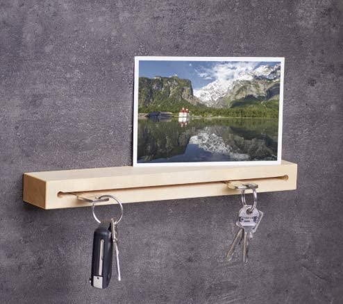 diversi tipi di legno e modelli a scelta 30 cm Pannello appendichiavi in legno realizzato a mano in Baviera Woods
