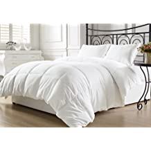 Chezmoi Collection Goose Down Alternative Comforter Duvet Cover Insert King Size with Corner Tabs, White
