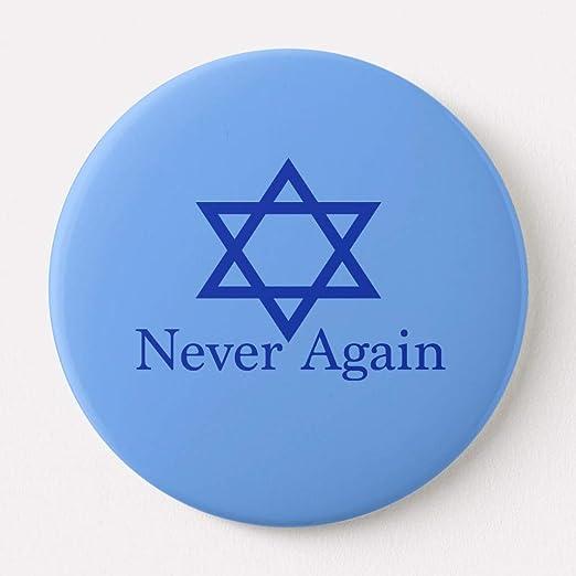 Amazon Zazzle Never Again Jewish Holocaust Remembrance Button