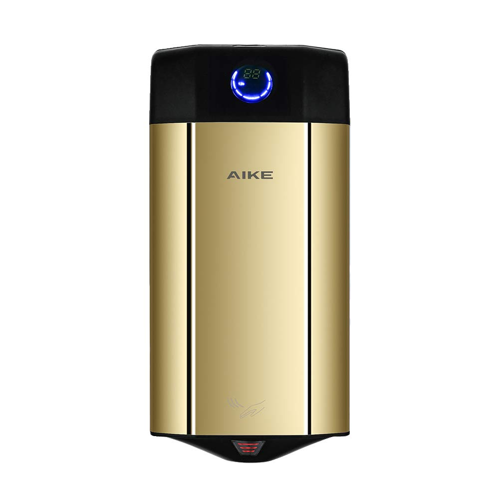 AIKE AK2807-6 Commercial Perfumed Hand Dryer Colorful Stainless Steel High Speed (Gold). by AIKE