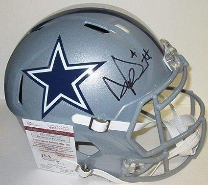 2280cfc615b Image Unavailable. Image not available for. Color: Dallas Cowboys Dak  Prescott Autographed Full Size Speed Replica Helmet ...