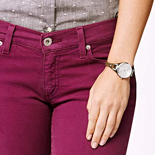 Fossil Women's Georgia Quartz Stainless Steel and Leather Casual Watch