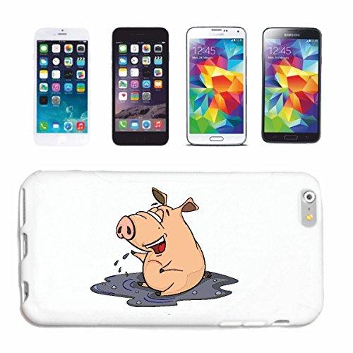 """cas de téléphone iPhone 6S """"PIG SENT BIEN DANS DIRT PIG domestique phacochère SANGLIER MINI PIG PIG RACES Ferkel SAU"""" Hard Case Cover Téléphone Covers Smart Cover pour Apple iPhone en blanc"""