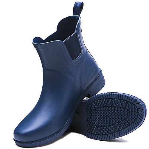 TONGPU Rain Blue Ankle High Women's Rubber Boots rzwRr