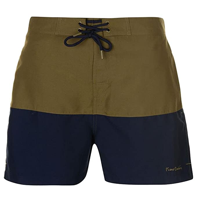 Pierre Cardin Mens Cut and Sew Swim Shorts Two Front Pockets