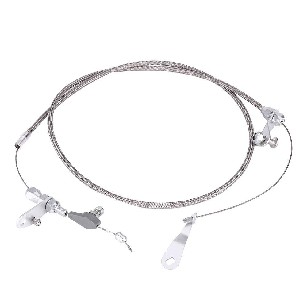 For Ford C6 Transmission Kickdown Cable Kit,Stainless Braided Kick Down Cable Vehicle with a C4 Transmission For Ford C4//C6