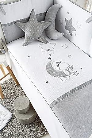 Pellicola Protettiva Pirulos Piumino Orsetto Blu Cuscino lenzuola di regalo Lettino 60/x 120