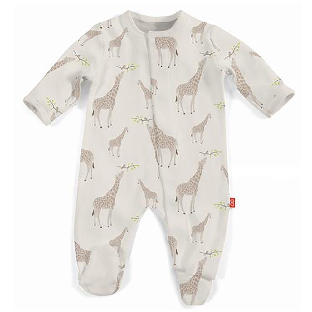 Magnificent Baby Magnetic Me Baby Footie, Jolie Giraffe