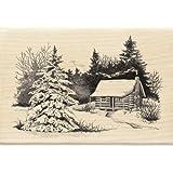 Inkadinkado Snowy Cabin Wood Stamp