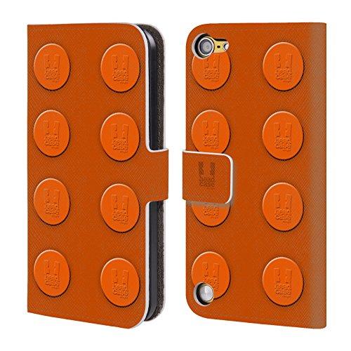 Head Case Designs Arancione Mattoncini Cover a portafoglio in pelle per iPod Touch 5th Gen / 6th Gen