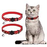 PUPTECK Cat Breakaway Collar with Bell - 2 pcs/Set