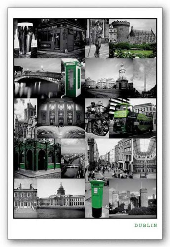Dublin Collage   Ireland 24X36 Art Print Poster Poster Print  24X36