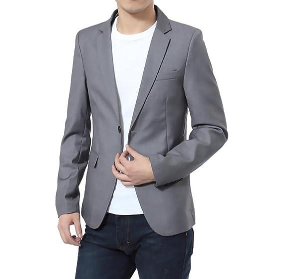 BOLAWOO Blazer Hombre Elegantes Casual Slim Fit Cuello Solapa Chaquetas Negocios Office Wear Chaqueta Americana Hombre: Amazon.es: Ropa y accesorios