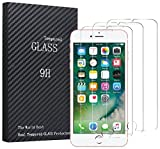 Fedirect 3-packs iPhone 7 Plus / iPhone 8 Plus Screen Protector, Tempered Glass Screen Protector High Definition Clear Screen Protector