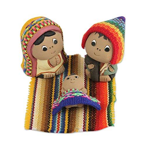NOVICA 'Andean Holy Family' (Set of 3) Ceramic Nativity Scene