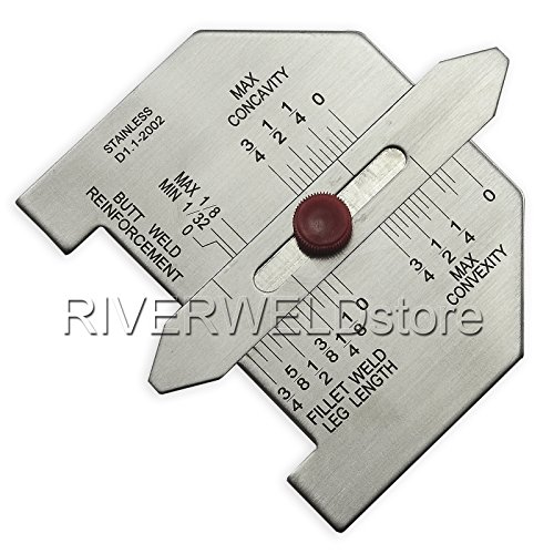 Automatic Weld Size Fillet Weld Butt Weld Welding Gauge Stainless Steel Inch Inspection Gauge