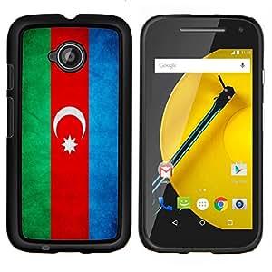 """Be-Star Único Patrón Plástico Duro Fundas Cover Cubre Hard Case Cover Para Motorola Moto E2 / E(2nd gen)( Bandera nacional de la Serie-Azerbaiyán"""" )"""