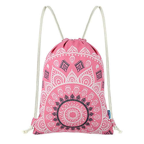 Miomao Drawstring Backpack Gym Sack Pack Mandala Style String Bag With Pocket  Canvas Sinch Sack Sport Cinch Pack Christmas Gift Bags Beach Rucksack 13 X  18 ... dac12d4ca2823