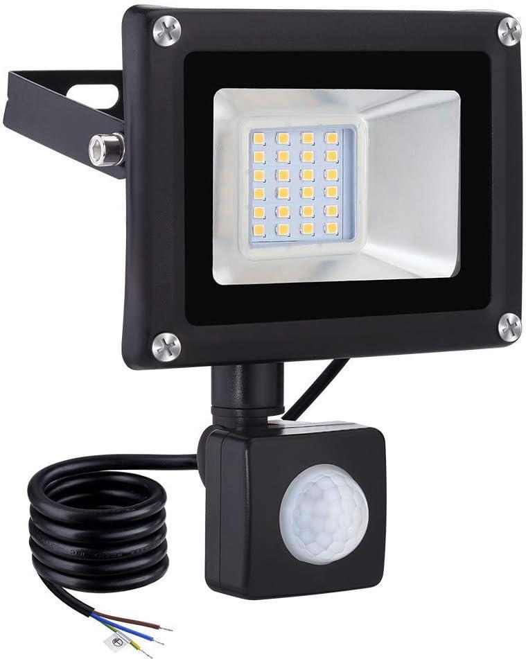 60W Faretto LED con Sensore di Movimento Novostella 6000LM Proiettore LED Luce 6000K da Esterno Impermeabile IP66 per Giardino Corridoio con Cavo da 1,5M