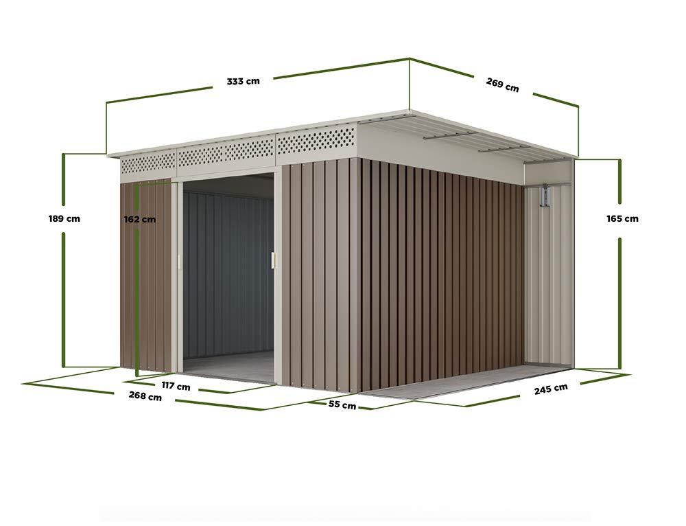 HOGGAR ÖREBRO 8, 96 m2 - Caseta de almacenaje - 15 años garantía: Amazon.es: Jardín