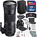 Sigma 150-600mm f/5-6.3 DG OS HSM Contemporary Lens for Nikon F Mount with Deluxe Accessory Bundle and Xpix Cleaning Kit