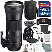 Sigma 150-600mm f/5-6.3 DG OS HSM Contemporary Lens for Canon EF Mount with Deluxe Accessory Bundle and Lens-Safe Cleaning Kit