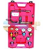 14pc Radiator Pump Pressure Leak Tester Checker Kit Aluminum Adapters w/ Case