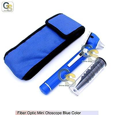 Fiber Optic Mini Otoscope Blue Color (diagnostic Set) G.s Instruments