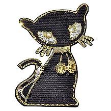 Black Cat Custom Patches Iron Sew on Applique