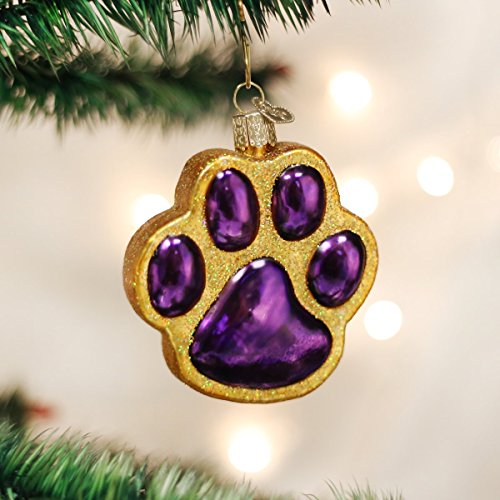 Old World Christmas Ornaments: Paw Print Glass Blown Ornaments for Christmas Tree
