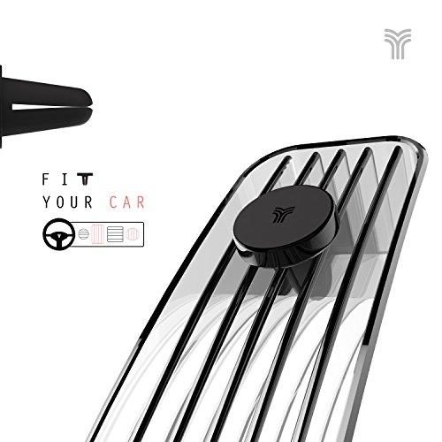 YOSH Calamita per Cellulare Auto Porta Cellulare da Auto Supporto Auto Smartphone Porta Cellulare Macchina Magnetico per iPhone 8 7 6s 6 Samsung Galaxy S8 S7 j7 Huawei Honor Blackview (Jet Nero)