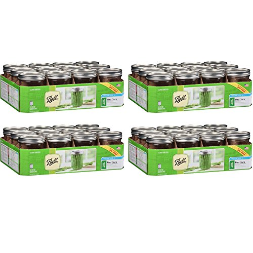 Ball Wide Mouth Pint Jars, 12 count (16oz - 12cnt), 4-Pack ()