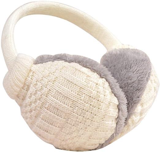 Cozy Design Fluffy Winter Adjustable Earwarmers Knitted Soft Warm Ear Muffs Winter Earmuffs