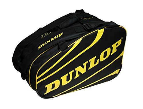 Dunlop COMPETITION - Paletero de pádel, 2017, nivel avanzado/profesional, color negro/amarillo