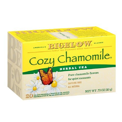 Bigelow Cozy Chamomile Herb Tea 20 bags (Pack of 2)