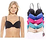 Just Intimates Bras for Women – Petite to Plus Size/ Full Figure (Pack of 6) – 32A, Tuxedo Bra