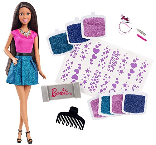 Barbie Glitter Hair Design Doll, Brunette