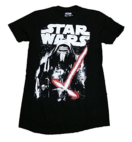 Star Wars The Force Awakens Kylo Ren Licensed Graphic T-Shirt - Large