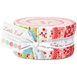 Little Ruby by Bonnie & Camille Moda Jelly Roll, Set of 40 2.5x44-inch (6.4x112cm) Precut Cotton Fabric Strips