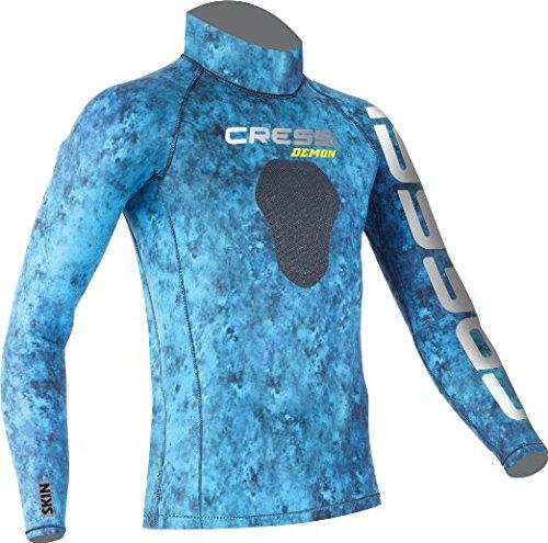 Cressi Hunter Rash Guard, camo blue, XL