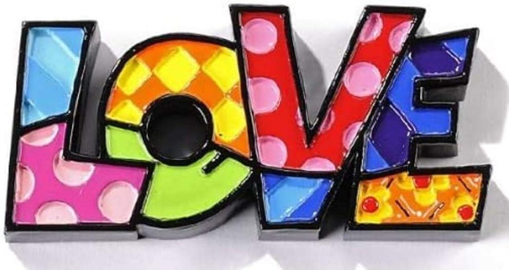 Romero Britto Miniature Love Word Pop Art