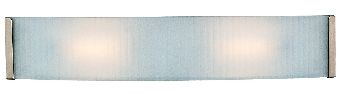 Access Lighting 62042-BS/CKF Helium 2LT Vanity Fixture, Brushed Steel Finish with Checkered Frosted Glass Diffuser