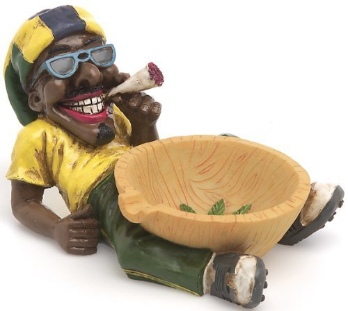 1-X-Jamaican-Man-Holding-Ashtray-LT46-by-Fujima