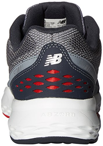 New Balance Training, Zapatillas Deportivas para Interior para Hombre Gris (Grey/Red)