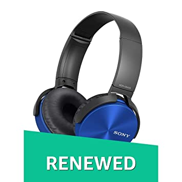 (Certified REFURBISHED) Sony MDR-XB450 On-Ear Extra Bass Headphones (Blue) On-Ear at amazon