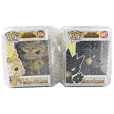 Funko Pop! Animation: My Hero Academia - Teacher All Might and Fumikage Tokoyami - Set of 2 in Bubble Pouches: Toys & Games